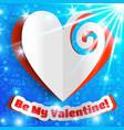 romantic bright template vector image vector image
