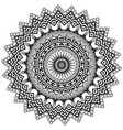round greek mandala pattern ornamental vector image vector image