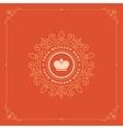 Royal Logo Design Template Decoration vector image