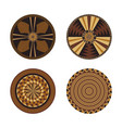 set of african decorative elements tribal print vector image vector image