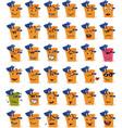 set of bucket and beach shovel character emojis vector image vector image