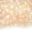 Shimmering Xmas Light Background with Snowflakes vector image vector image
