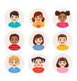 smiling kid avatars vector image vector image