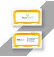 stylish watercolor business card template vector image vector image
