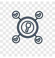 success concept linear icon isolated on vector image