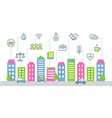 sustainable development and smart city vector image vector image