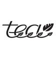 tea logo template design vector image vector image