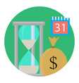 time and money vector image
