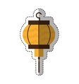 traditional japanese lamp icon vector image vector image
