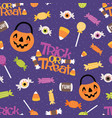 trick or treat candy seamless pattern vector image