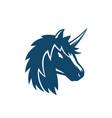 unicorn logo on white vector image