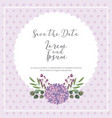 wedding save the date card flower natural vector image vector image