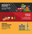 welcome to germany advertisement banners vector image