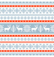 winter knitted pattern vector image vector image