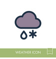 cloud with snow icon meteorology weather vector image
