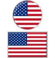 American round and square icon flag vector image
