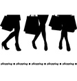 Women holding shopping bags vector image