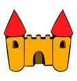 castle icon icon cartoon vector image