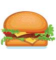Hamburger icon isolated on white food vector image