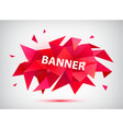 red faceted 3d banner vector image
