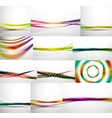 Abstract background set blurred wave templates vector image vector image
