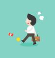 angry businessman walking and kick can flat vector image vector image