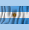 argentina realistic waving flag national country vector image