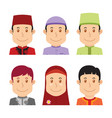 avatar of muslim people vector image