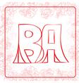 BA monogram vector image