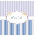 baby born congratulation card vector image vector image