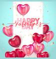 balloon hearts holiday of vector image vector image