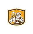Bavarian Beer Drinker Mug Shield Retro vector image vector image