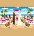 beach wedding vector image