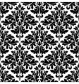 black and white floral arabesque pattern vector image vector image