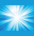 blue rays sun vector image vector image