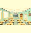 cartoon of school classroom vector image vector image