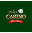 casino logotype concept typography design vector image vector image