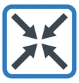 Center Arrows Flat Icon vector image