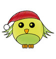 christmas cute bird character vector image