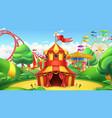 circus tent amusement park 3d landscape vector image vector image