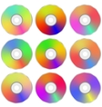 Colorful Realistic Compact Disc Collection vector image vector image