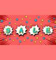 comic bright sale horizontal concept vector image vector image