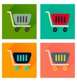 Concept of flat icons with long shadow shopping vector image vector image