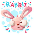 cute rabbit characters - cartoon vector image