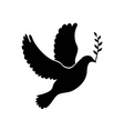 Dove of peace simple icon Flying dove of peace vector image