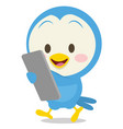 dove with phone collection stock vector image
