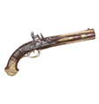 Dutch two barrel flintlock pistol by Johann Kuchen vector image