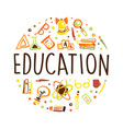 education banner template with school vector image vector image