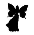 fairy silhouette fairytale fantasy magical vector image vector image