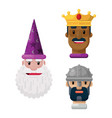 fantasy hats crowns and helmets flat icon s vector image vector image